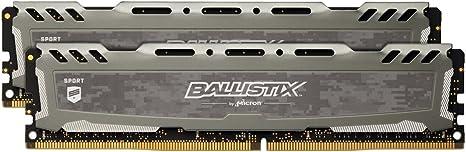 DIMM 288-Pin PC4-19200 Ballistix Sport LT 32GB Kit DDR4 2400 MT//s 16GBx2 B