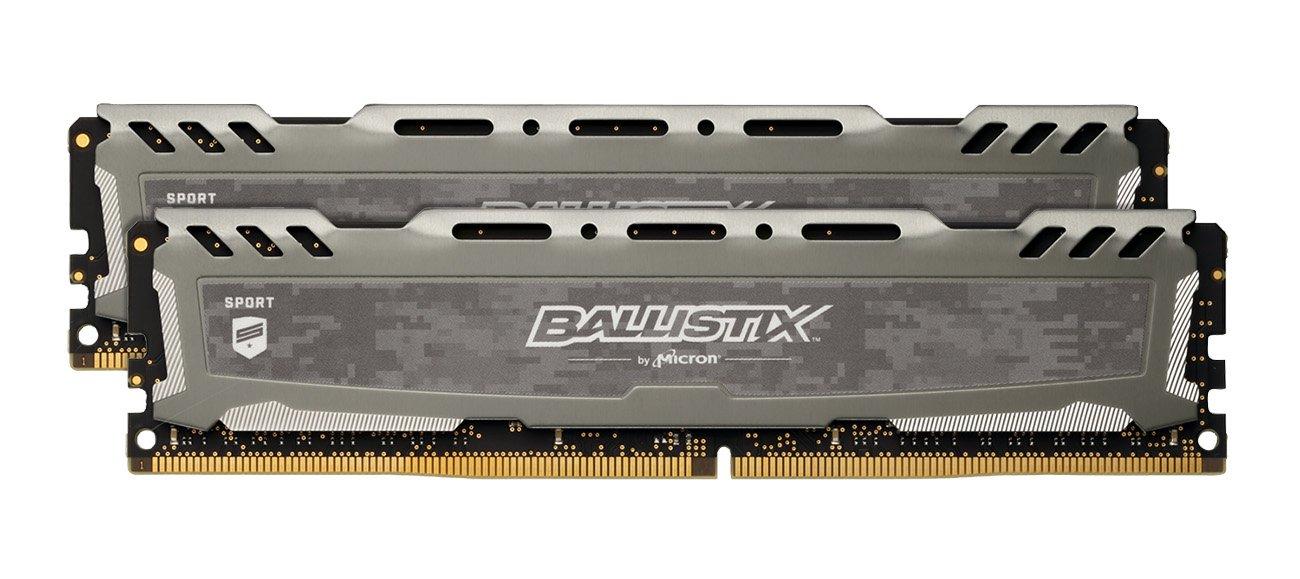 Ballistix Sport LT 16GB Kit (8GBx2) DDR4 2400 MT/s (PC4-19200) DIMM 288-Pin - BLS2K8G4D240FSB (Gray)