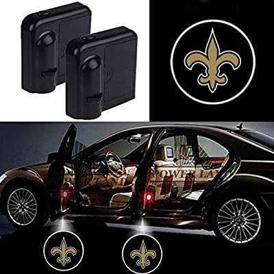 Akarin Wireless Car Door LED, Projector Light Courtesy Welcome Logo Light Shadow Ghost Laser Lamp Suitable Fit for all brands of Cars (New Orleans Saints): Automotive