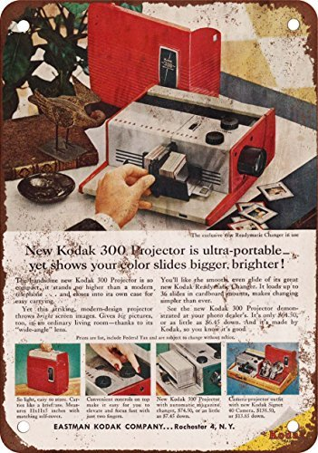 1957 Kodak Slide Proyector Vintage Look Reproducción Metal Tin ...
