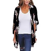 HARRYSTORE Women Chiffon Loose Shawl Print Kimono Cardigan Top Summer Cover up Blouse Beachwear