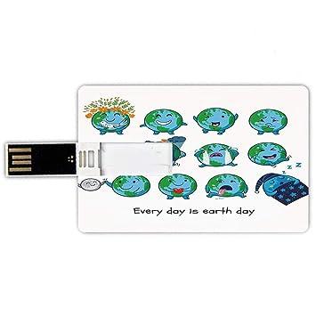 64GB Forma de Tarjeta de crédito de Unidades Flash USB Emoji ...