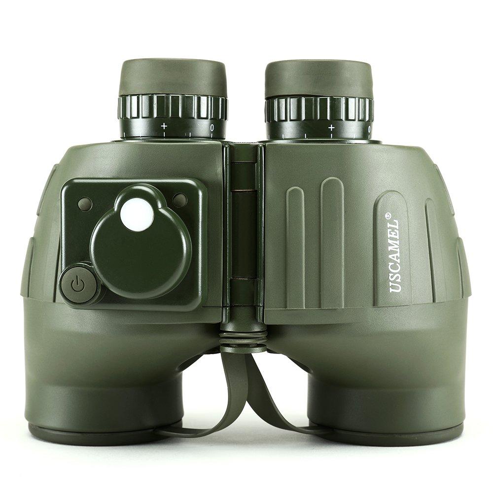 USCAMEL 7 x 50双眼鏡、コンパス防水曇り止めRangefinder、ミリタリーハンティング、ミリタリーグリーン B01JOCJ8L6