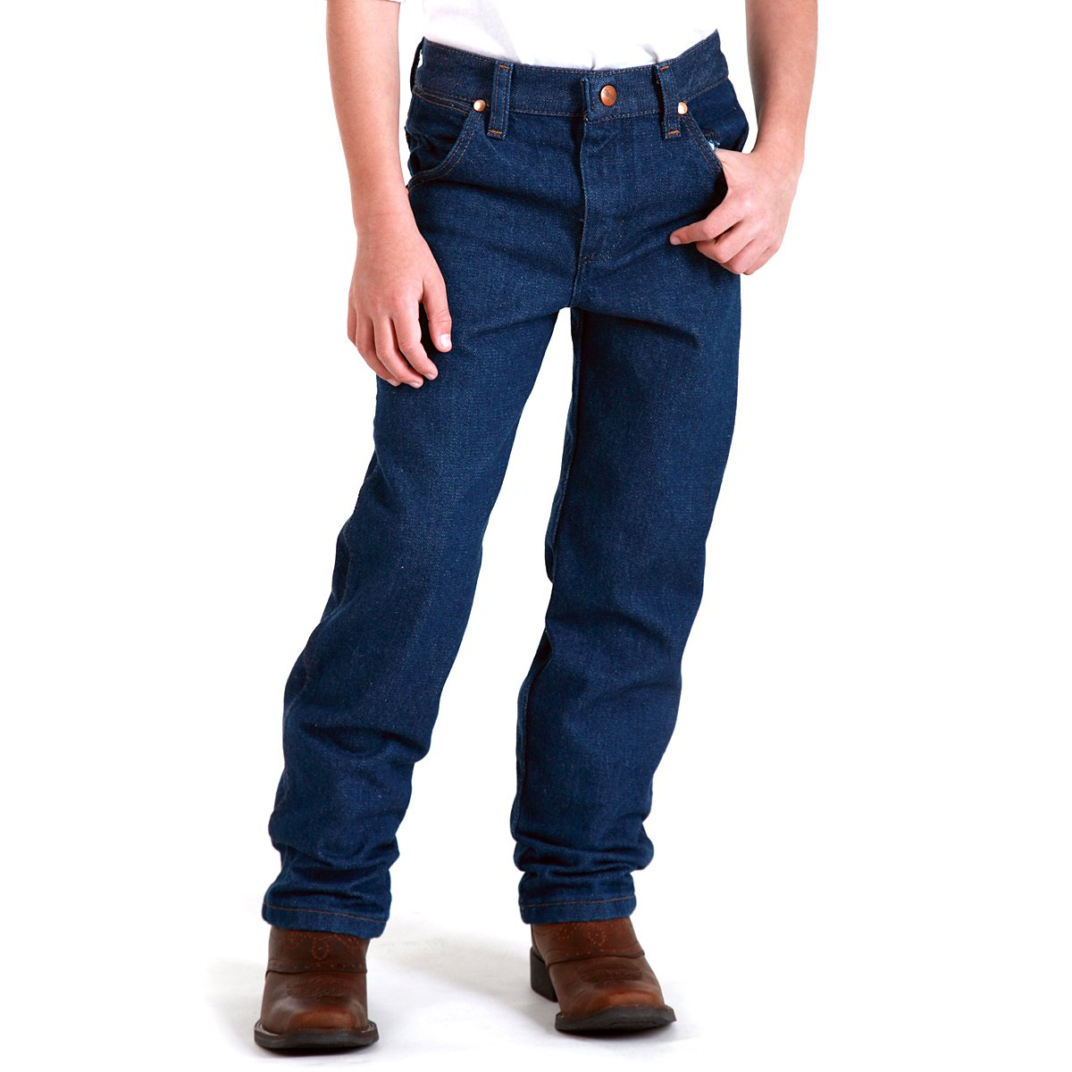 10 Regular Wrangler Big Boys Original ProRodeo Jeans Stonebleach Denim