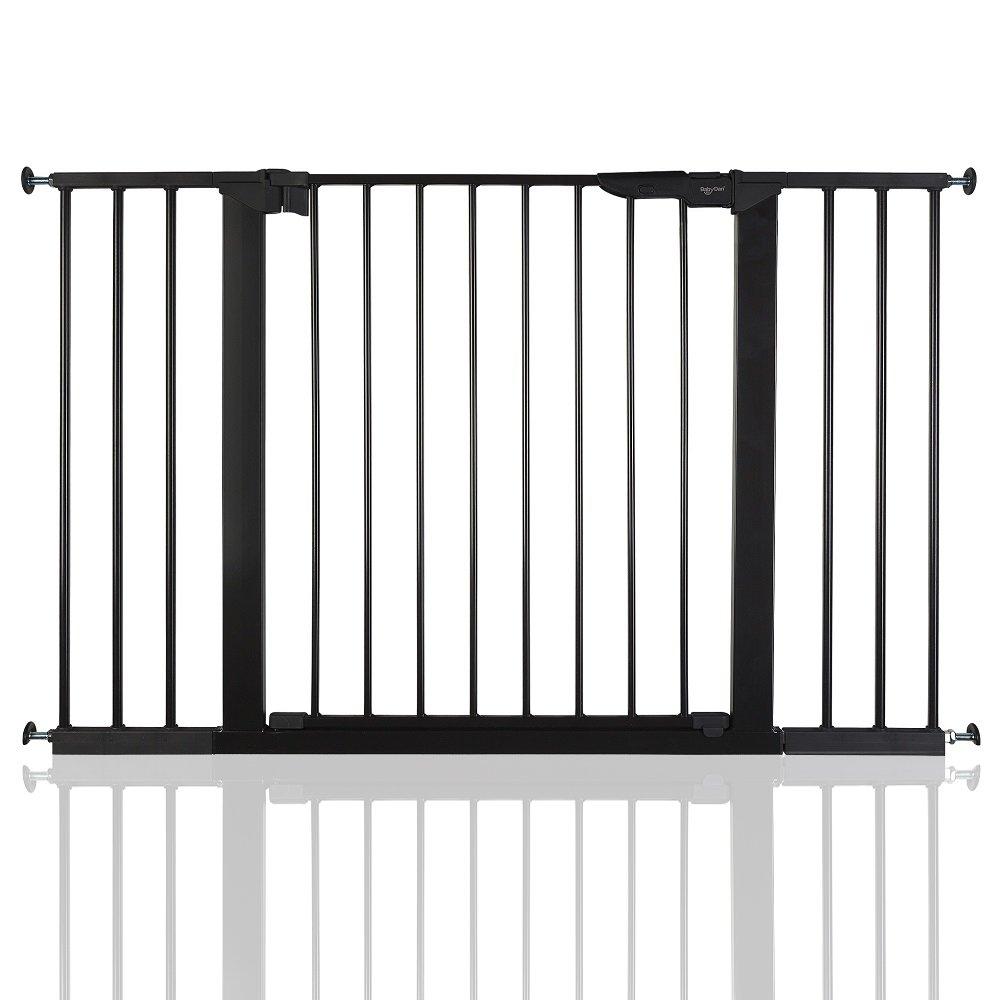 BabyDan Premier Bébé Barrière de Sécurité en pour Escalier Noir 73, 5 - 79, 6cm