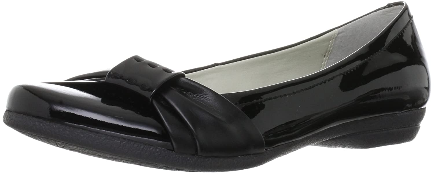 8508ccb73 Clarks Womens Smart Clarks Discovery Bay Leather Shoes In Black Patent Wide  Fit Size 6  Amazon.co.uk  Shoes   Bags