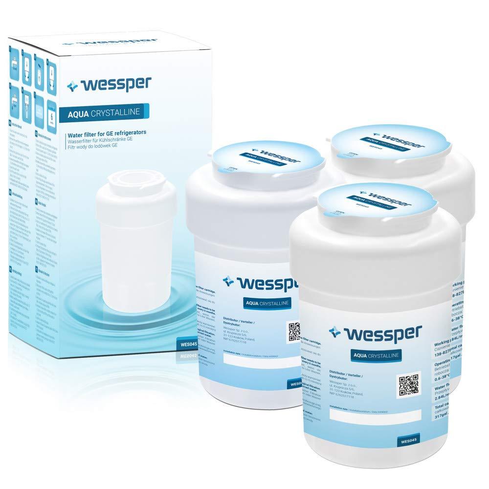 3 x Wessper filtro de agua compatibles para General Electric GE ...