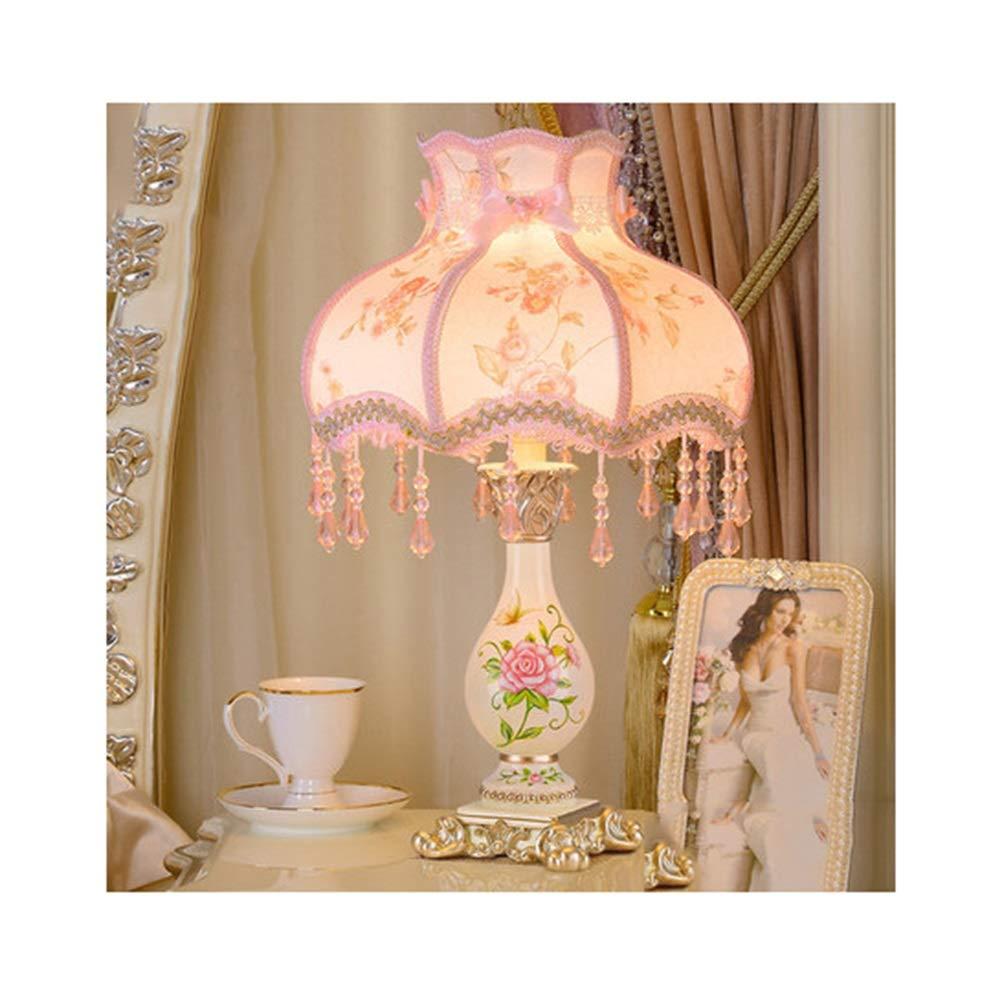 WPQW テーブルランプ高級クリエイティブシンプルな結婚式の部屋の装飾デスクランプ暖かい王女の生活人格読書ランプ -347 電気スタンド (色 : O, 設計 : Remote control) B07R15GHBB K k Dimming Dimming|K k