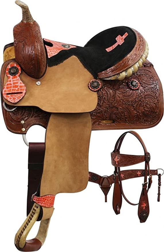 10 Semi Quarter Horse Bars 12 Double T Youth Barrel Style Saddle