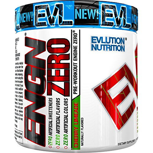 Evlution Nutrition ENGN Pre Workout Naturally Flavored 30 Serving Powder (Naturally Flavored Cherry Limeade) Natural Sweeteners, Naturally Colored