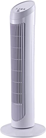 HOMCOM Ventilador de Torre Oscilante 70° Tower Fan Columna ...