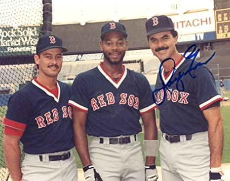 be887f936 Image Unavailable. Image not available for. Color: Dwight Evans Red Sox  Signed ...