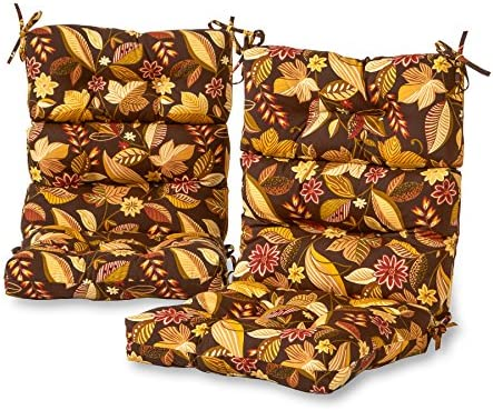 Greendale Home Fashions Outdoor High Back Chair Cushion set of 2 , Timbfloral