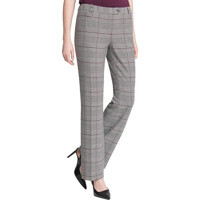 Calvin Klein Glen Pantalones de Vestir a Cuadros para Mujer ...