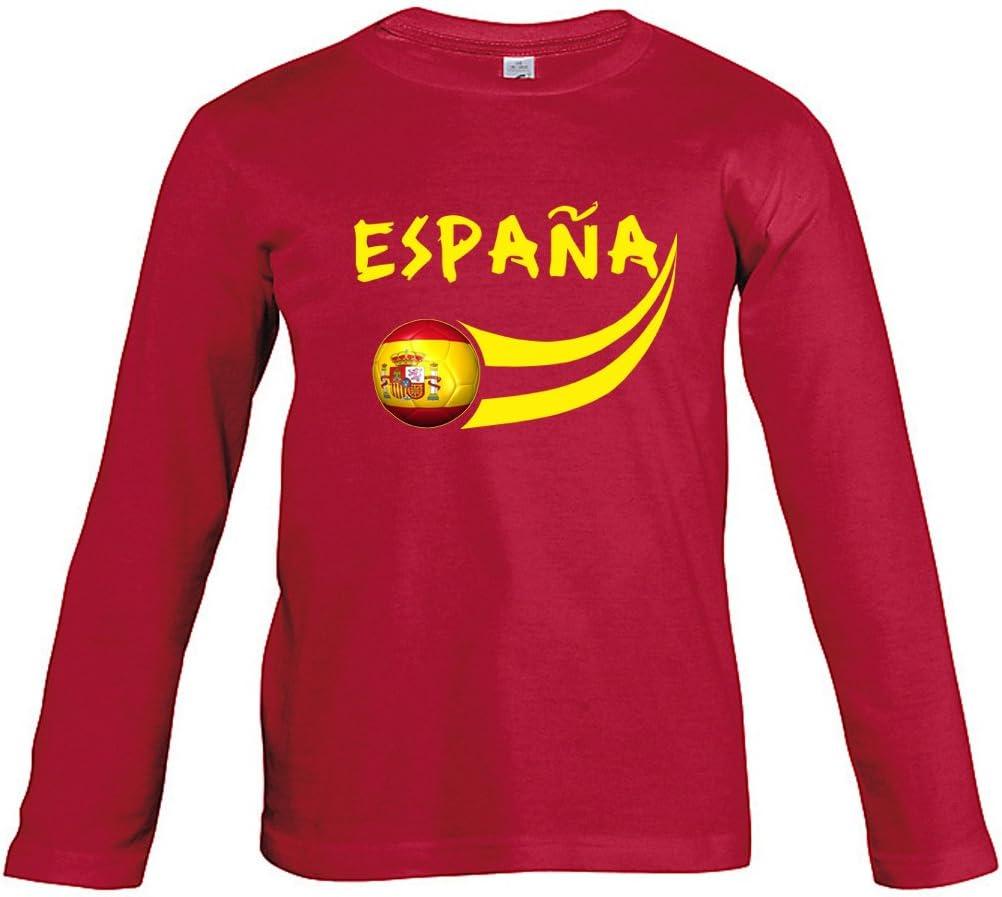 Supportershop – Camiseta de fútbol de España para niño: Amazon.es: Deportes y aire libre