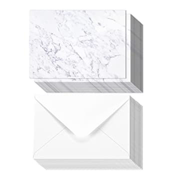 Amazon Com 50 Pack Marble Gray Invitation Paper For Weddings