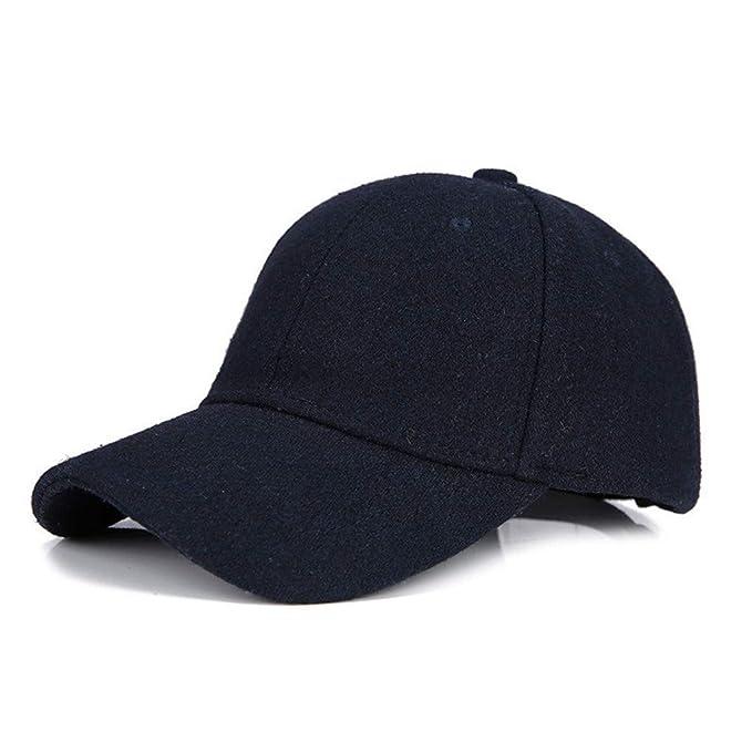 ... para Hombre Mujer, Aire Libre Moda Casual Ajustable con Cierre Trasero SóLido Viseras Sombreros Casuales Hip Hop Gorras: Amazon.es: Ropa y accesorios