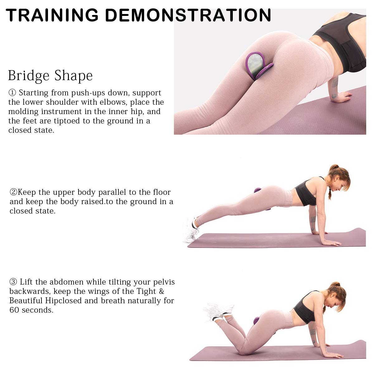 Hip Trainer /& Hip Muscle Tight Buttocks Exercise Equipment Hip Trainer,Super Kegel Exerciser Pelvic Floor Muscle Trainer and Inner Thigh Exerciser for Women