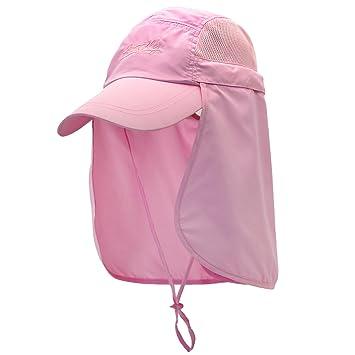 BEETEST Gorra de protección 360 grados Sombrero Anti-UV Gorra con Visera Transpirable de Pesca con Ala y Máscara Extraíble Protege Cuello Cara Protección ...