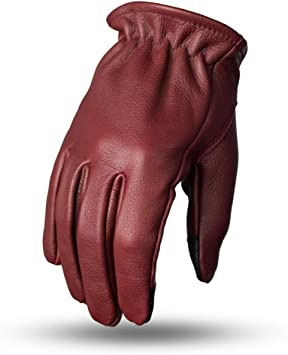 First Mfg Co Mens Roper Leather Motorcycle Touch Tech Finger Gloves Whiskey XX-Large