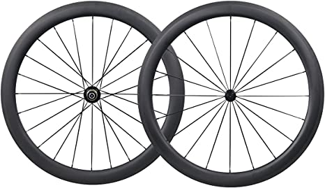 700C 50mm Carbono Carretera Bicicleta Ruedas Clincher Tubeless ...