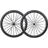 700C 50mm Carbono Carretera Bicicleta Ruedas Clincher Tubeless Ready Novatec Buje
