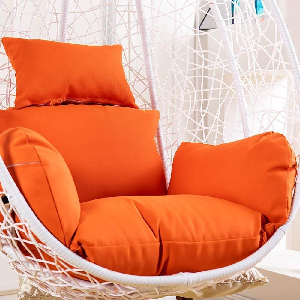 Wicker Rattan Hanging Egg Chair Pads Detachable with Pillow Thick ...