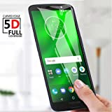 Motorola Moto G6 Plus Full Coverage Tempered Glass Screen Protector 3D Glass Screen Protector (Black)