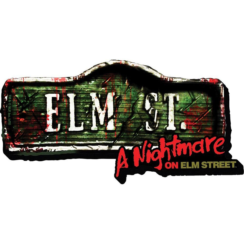Aquarius Nightmare on Elm Street- Sign Funky Chunky Magnet