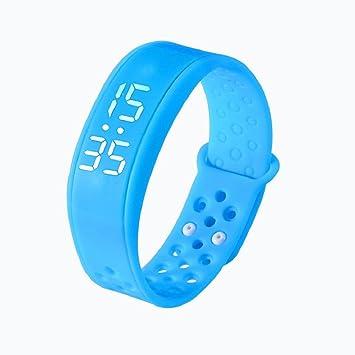 Tongshi Reloj pulsera Pulsera Pulsera Deportes Salud podómetro inteligente Wearable (Azul)