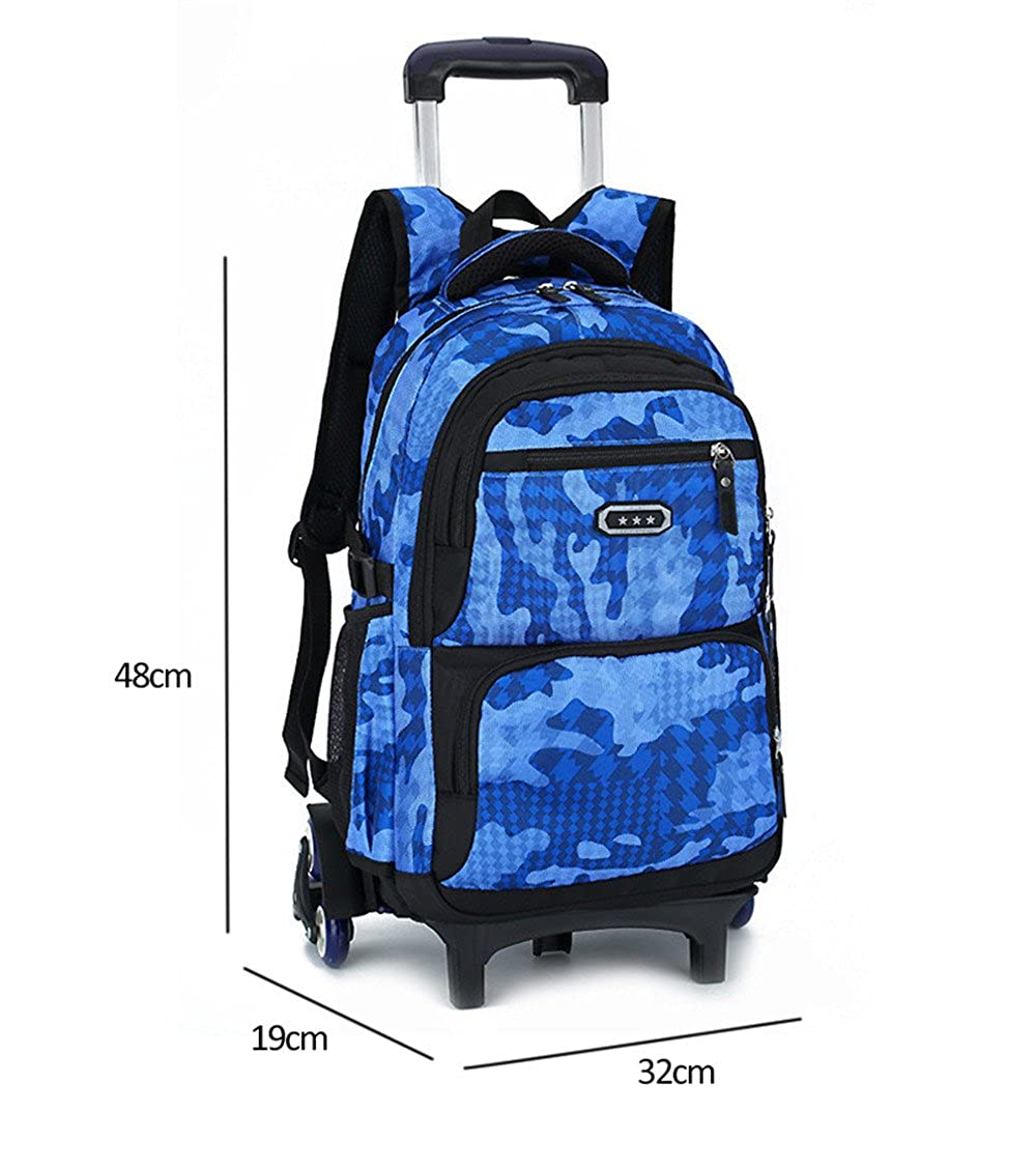 ad9406e4f98e Amazon.com: Fanci Flora Camo Waterproof Elementary Rolling Trolley School Bag  Backpack Boys Camouflage Wheeled Backpack Carry on Luggage Six Wheels: Toys  & ...