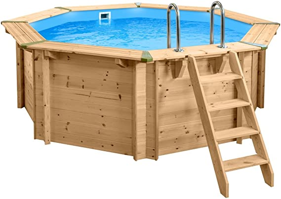 Interline 50700215 Bali a y 96188 Pool Set 1 Madera pared redondo ...
