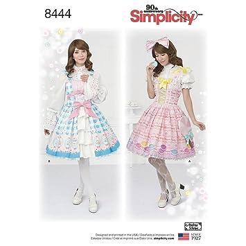 Amazon.com: Simplicity Pattern 8444 P5 Misses\' Lolita Costume for ...