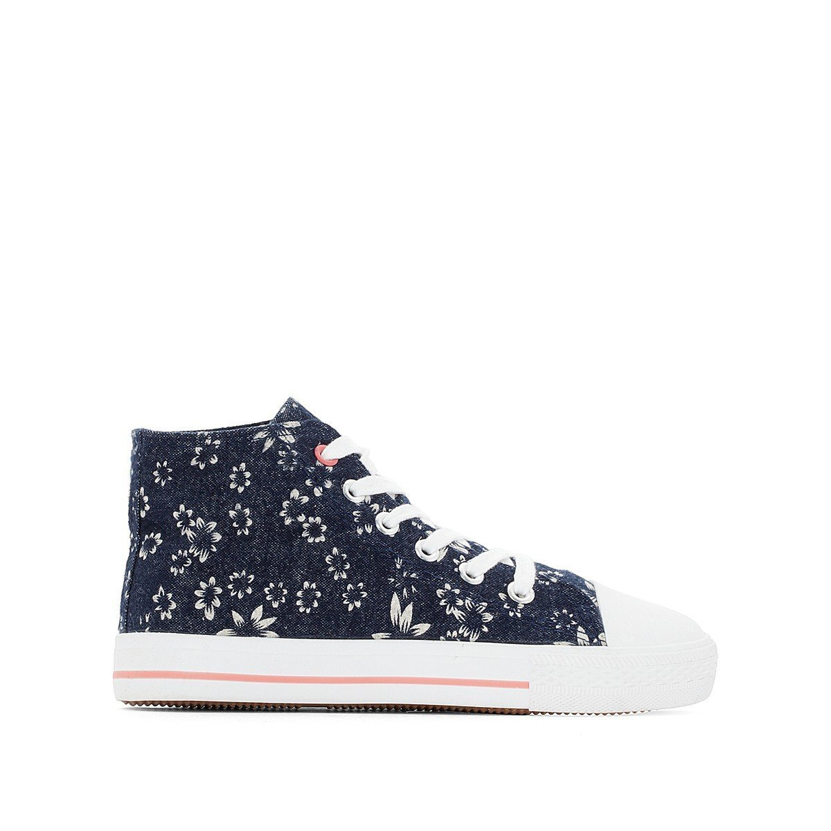 La Redoute Collections Big Girls Floral High Top Trainers Other Size 35 (2.5 to 3)