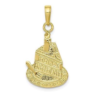 Colgante de oro amarillo de 10 quilates con forma de ...