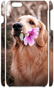 Hipster Shells Hard Abs Compatible with iPhone 6 6S 4.7Inch Have with Golden Retriever 6 Kid