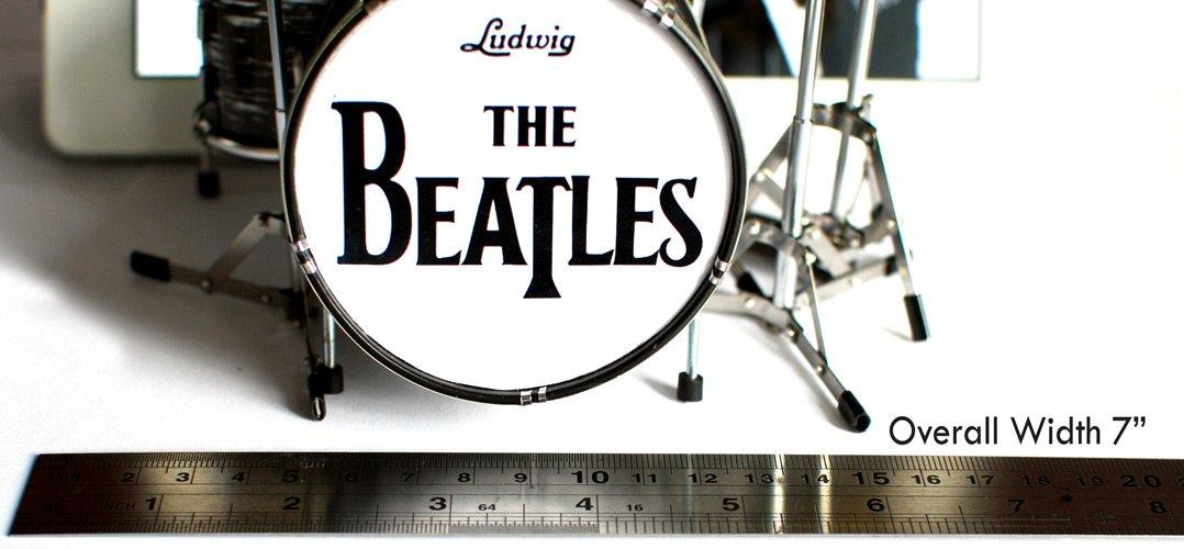 The Beatles Fab Four Miniature Guitar and Drums Set of 4 - Ringo Starr, John Lennon, Paul McCartney, George Harrison by Beat MGU