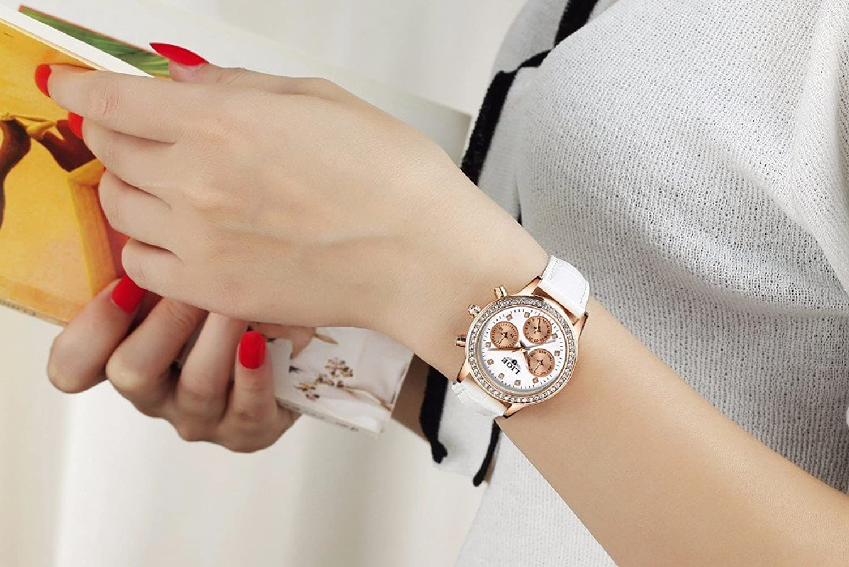 Amazon.com: Reloj De Mujer Women Quartz Watch Fashion Casual Luxury Relogio Feminino RE0096: Watches