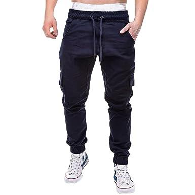 Pantalones Largos para Hombre,Moda Hombres Deporte Puro Color ...