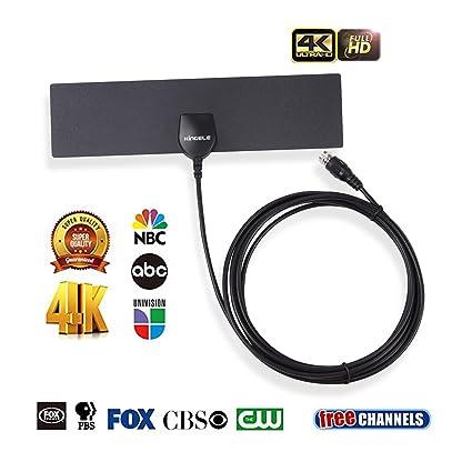 HDTV Antenna,KINGELE Indoor Digital TV Antenna (4K/1080P/VHF/UHF
