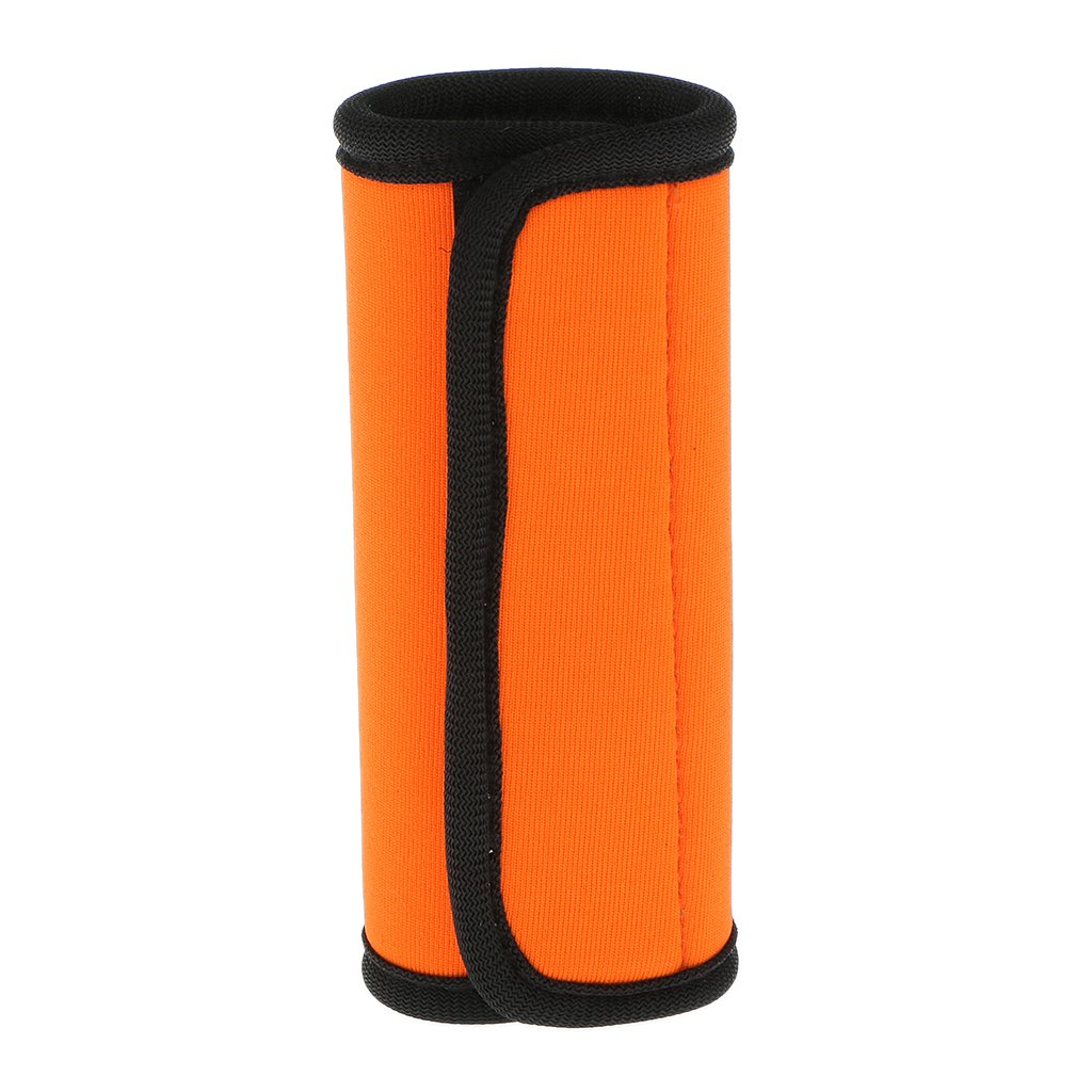 gazechimp 1 X Neoprene Luggage Handle Wrap Identifier Comfort Wrap Fluorescent Orange