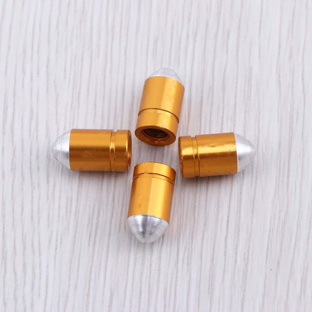 VORCOOL 4 st/ücke Franz/ösisch Stil Aluminiumlegierung Fahrrad Rad Reifen Ventilkappe Fahrrad Luftventilkappen Staubschutz Gold