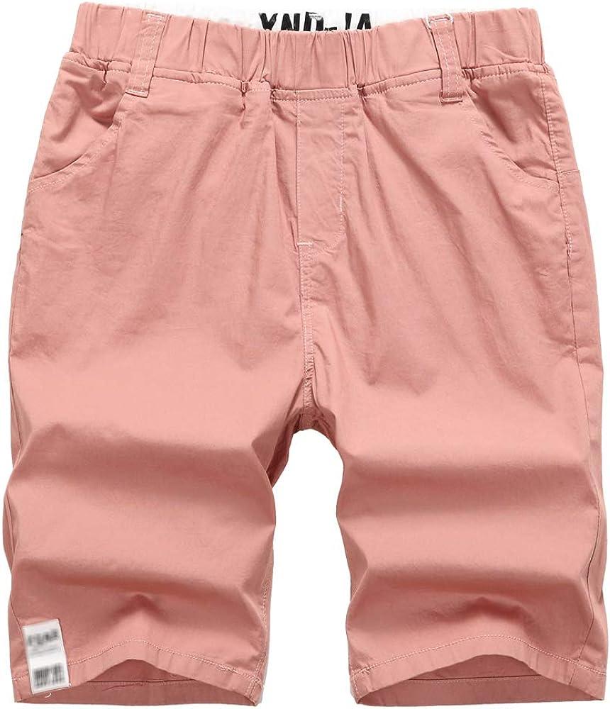 YoungSoul Pantalones Cortos para niño, Bermuda Chino Algodon con ...