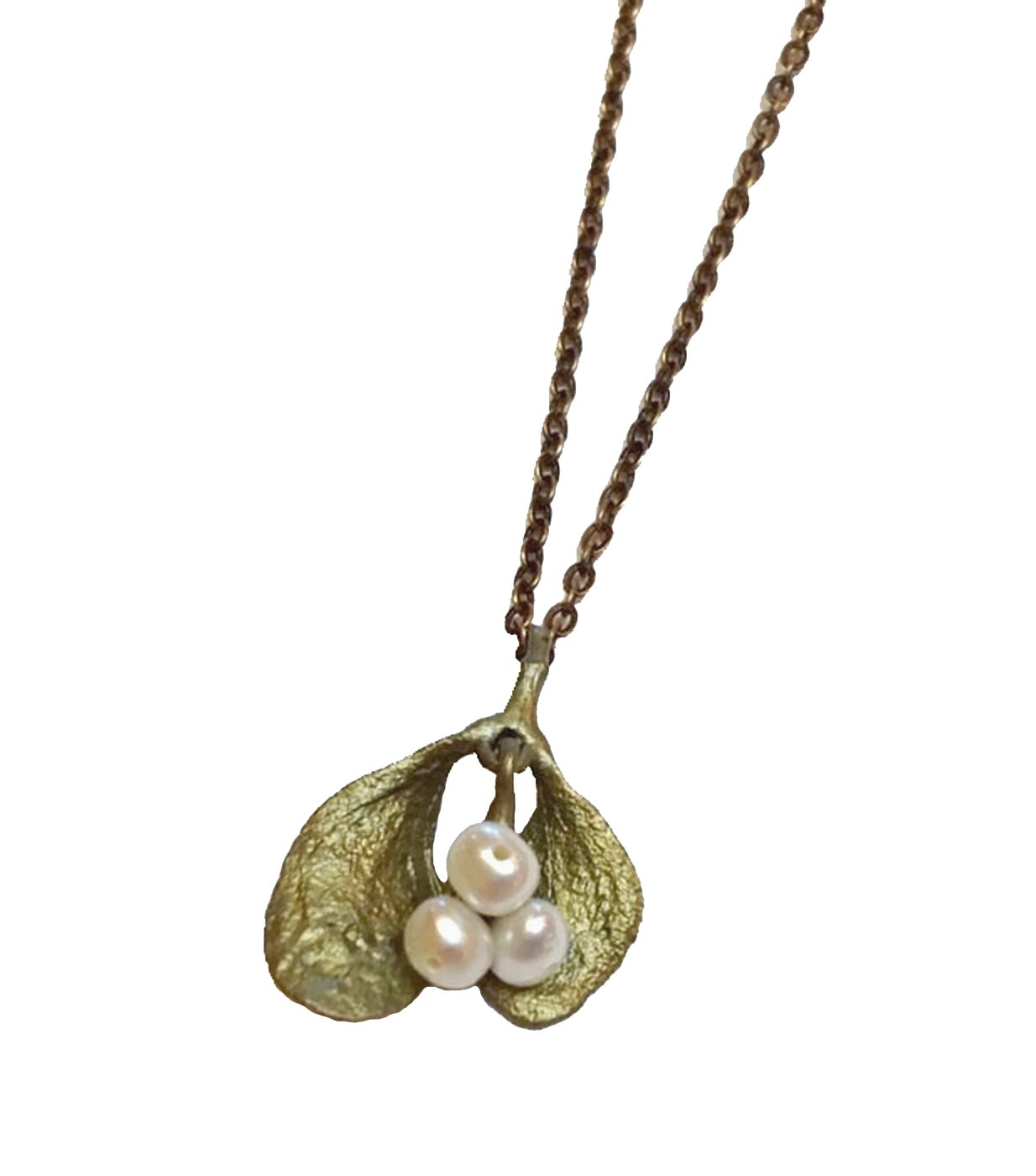 ''Mistletoe'' Petite Pendant Necklace By Michael Michaud for Silver Seasons…