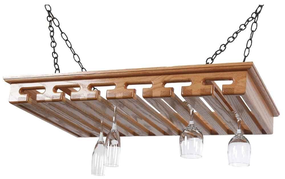 24 Glass Stemware Rack in Solid Red Oak by Laurel Highlands Woodshop
