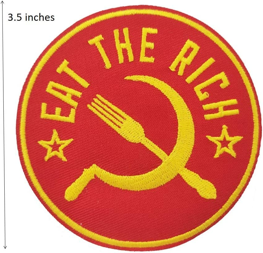 /Écusson brod/é Eat The Rich /à coudre ou /à repasser 8,9 cm