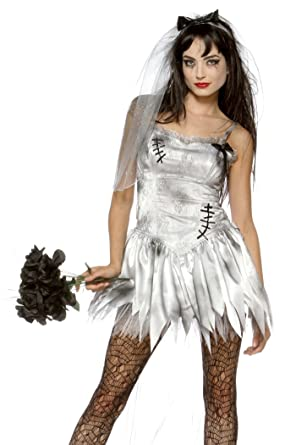 Lip Service Zombie Bride Costume - Small - Dress Size 4-6  sc 1 st  Amazon.com & Amazon.com: Lip Service Zombie Bride Costume - Small - Dress Size 4 ...