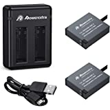 Powerextra 2 x 1500mAh Battery and Dual USB Charger Compatible with Insta360 ONE X