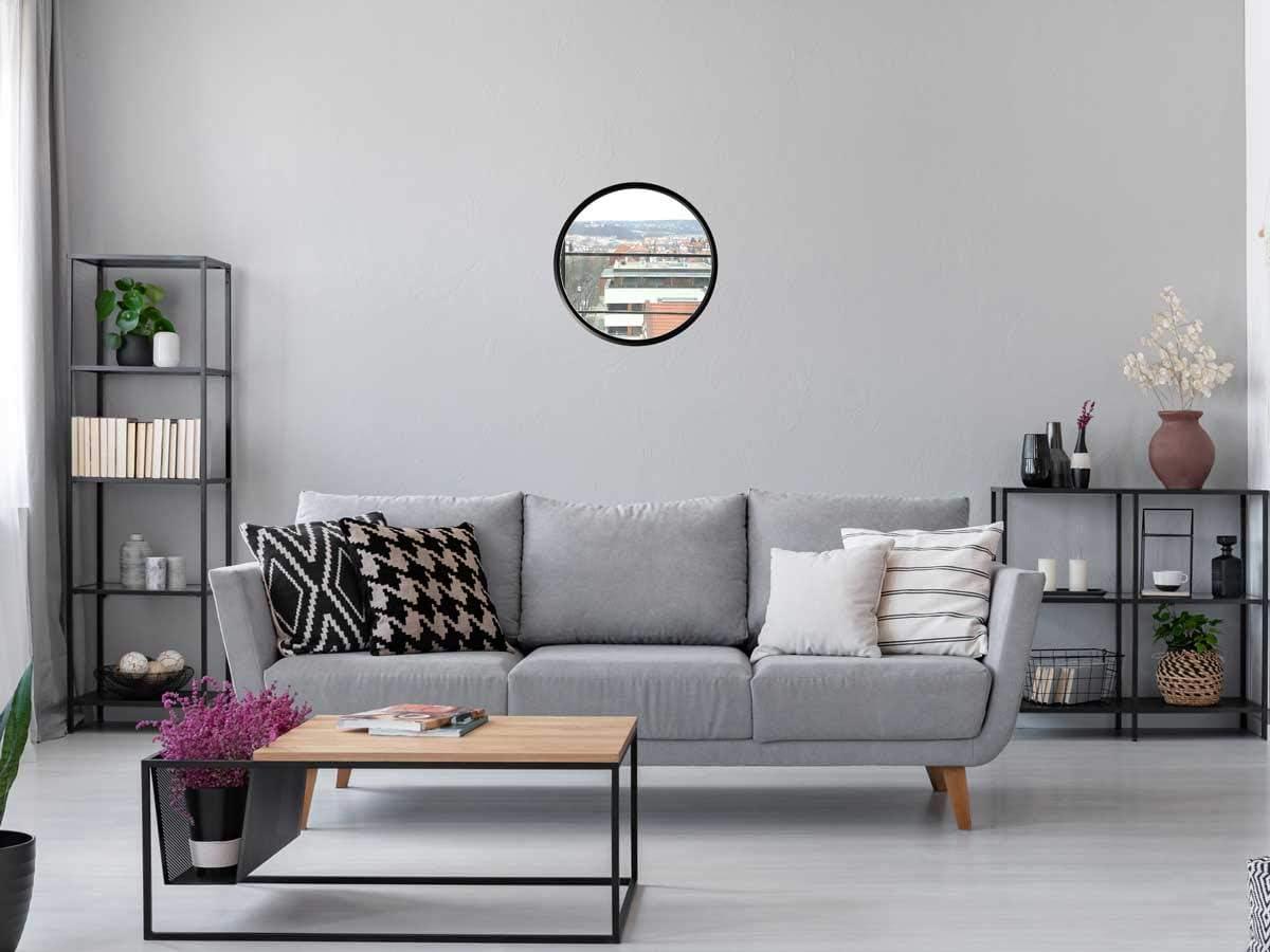 Camera da Letto MDF LOFTIKA ORO 40cm Specchio Rotondo Moderno da Parete per Bagno corridoio Soggiorno e Molto Altro Ancora Vetro a Specchio