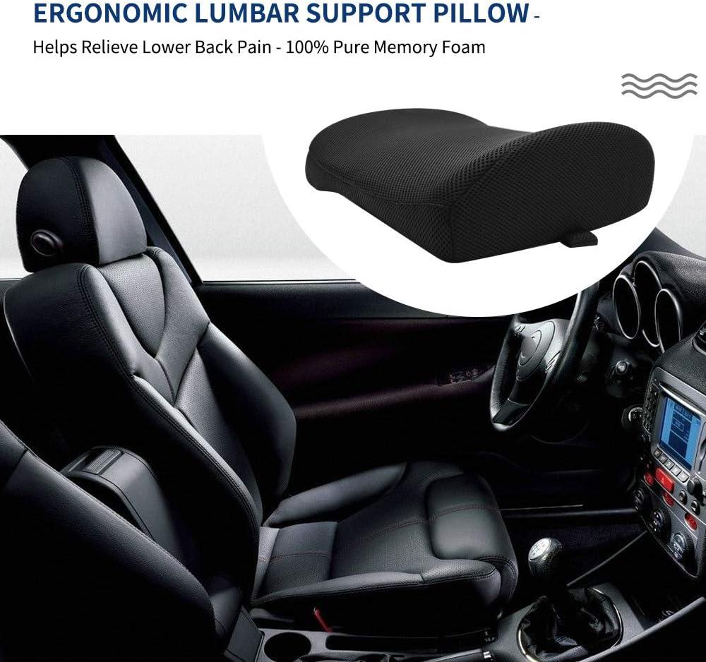 Memory Foam Ergonomic Design Lumbar Support Pillow Relieve Lower Back Pain Improves Posture Lumbar Cushion Fits Office Chair Wheelchair Car Driver Seat